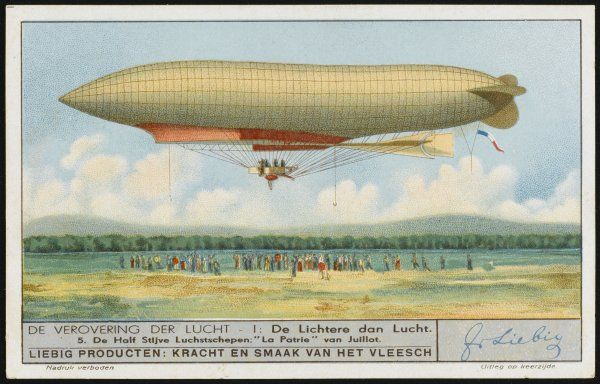 Juillot's military airship flies successfully in August, but in November, alas, it will crash