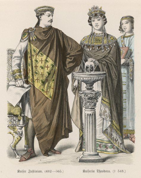 JUSTINIAN I with his wife THEODORA The most brilliant of the Byzantine emperors