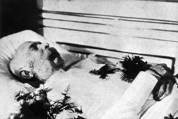 Kaiser Franz Josef I, Emperor of Austria (1830-1916), lying in state. Date: November 1916