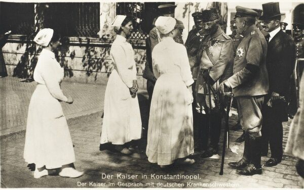 Kaiser Wilhelm II of Germany visits Constantinople during WWI and meets a group of German Nurses