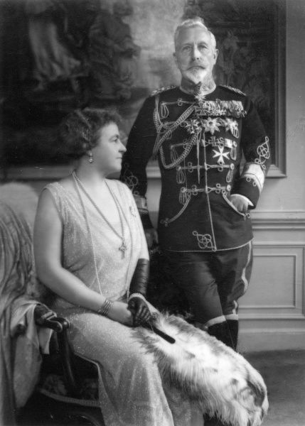 Kaiser Wilhelm II (1859-1941)pictured with his second wife, Princess Hermine Reuss (1887-1947)