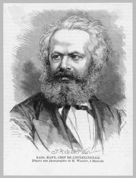 KARL MARX German radical political thinker