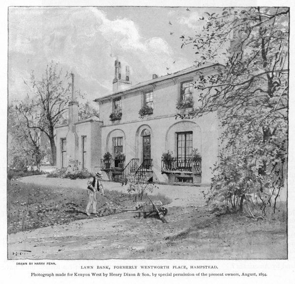 JOHN KEATS Lawn Bank, formerly Wentworth Place, Hampstead, home of the English poet