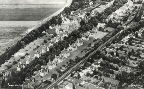 Aerial view of Beechholme children's home, Banstead, Surrey, originally established in 1876 as the Kensington and Chelsea District School to house pauper children away from the workhouse