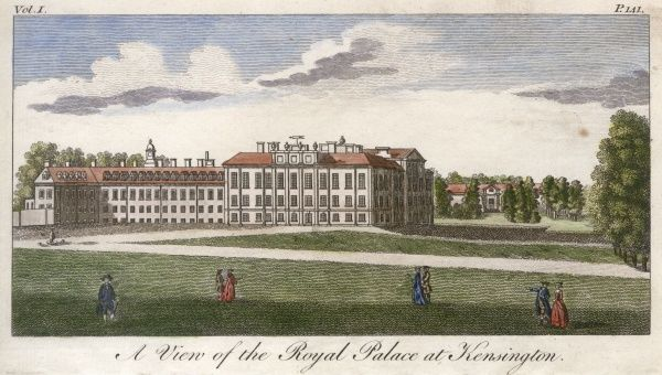 A view of the Royal Palace at Kensington Date: late 18th century