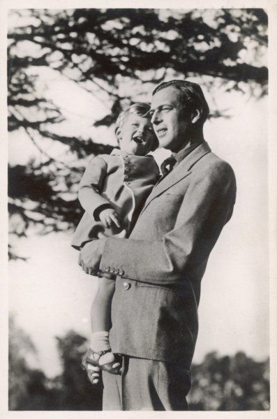 GEORGE, DUKE OF KENT Son of George V with his son Edward (born 1935)