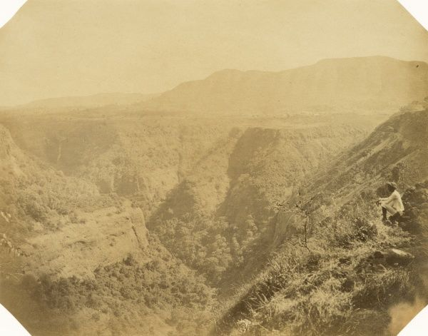 Khandalla and the great ravine from the long Tunnel; Pollard heights in the back ground Date: 1856