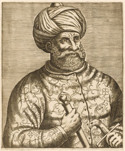 KHAYR AD-DIN known as Barbarossa II Ottoman admiral and Barbary pirate