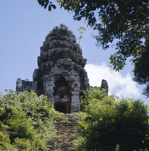 Ruins of the old Khmer culture at Battambang, Cambodia