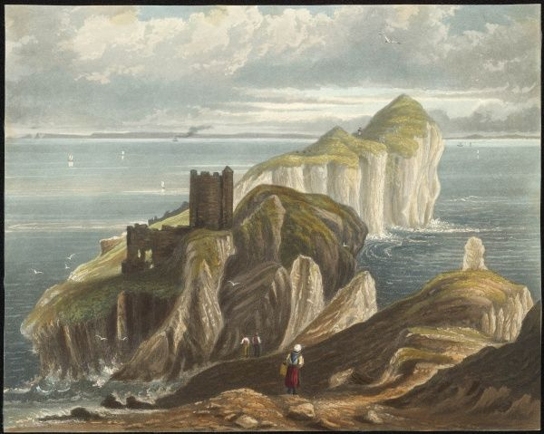 The dramtic setting of Kinbane Castle perched on a rocky outcrop on the shores of Antrim