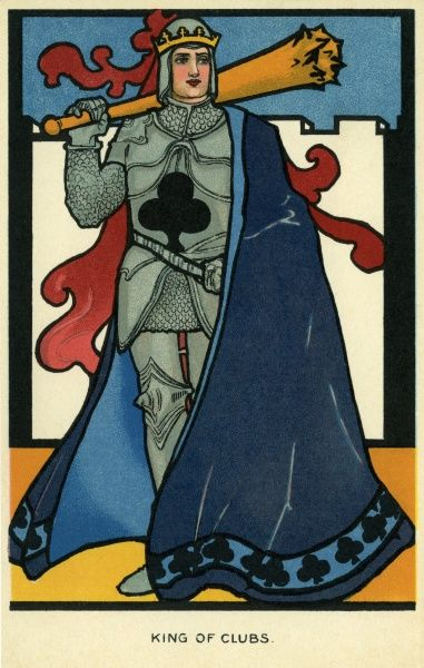 King of Clubs. Illustrator Anon. Date: 1904