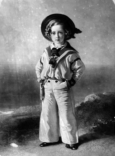 Portrait of King Edward VII (1841-1910) of Great Britain and Ireland, pictured when a little boy wearing a sailors uniform, c.1846