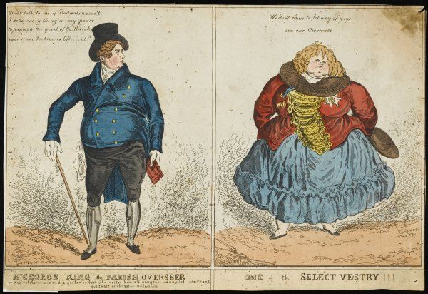 KING GEORGE IV OF ENGLAND Caricature of him and a 'friend&#39