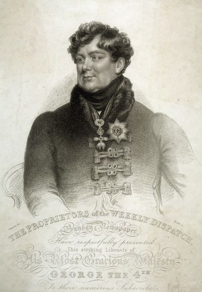 KING GEORGE IV OF ENGLAND Half-length portrait