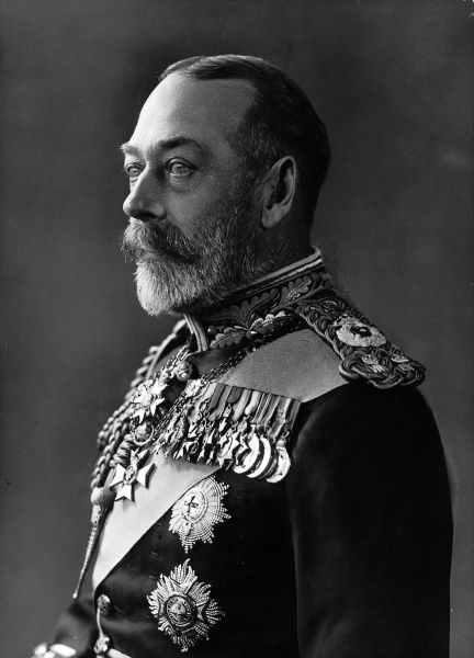 Photographic portrait of King George V of Great Britain and Northern Ireland (1865-1936), pictured in uniform, date unknown