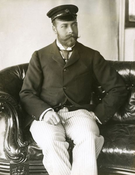 King George V (1865 - 1936), pictured during the 1890s while still Duke of York wearing a sailing outfit.. Date: 1893