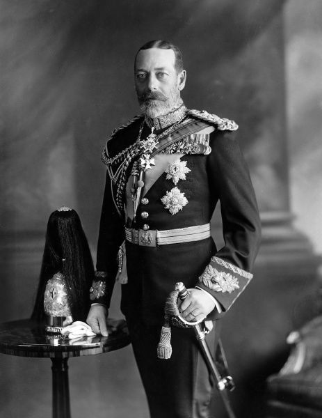 Photographic portrait of King George V of Great Britain and Northern Ireland (1865-1936), pictured in uniform, c.1930