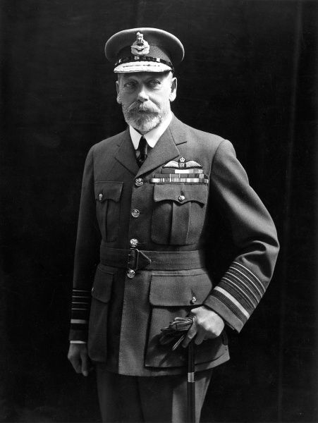 Photographic portrait of King George V of Great Britain and Northern Ireland (1865-1936), pictured in his Royal Air Force uniform, date unknown