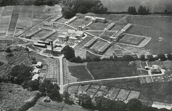Aerial view of the 230-bed King George V Sanatorium between Milford and Hydestile near Godalming in Surrey