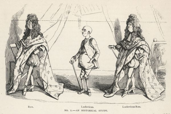 LOUIS XIV 'LE ROI SOLEIL' Satire which stresses that underneath the regalia, the King of France is a mere man