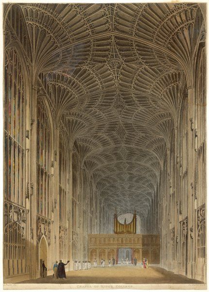 King's College chapel - the interior, looking towards the organ screen
