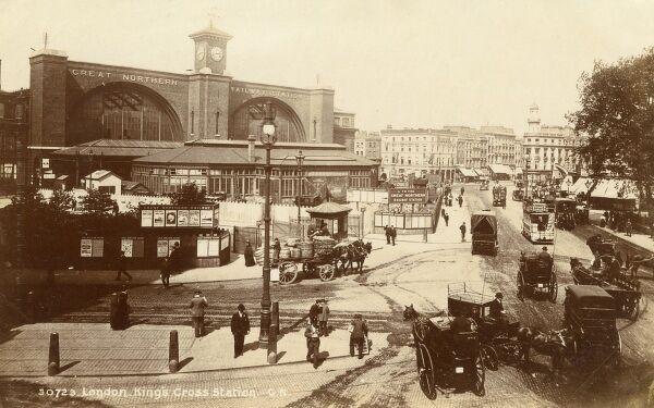 Kings Cross Railway Station, London Date: circa 1906
