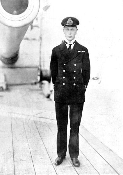 A portrait of Prince Albert (1895-1952), second son of King George V and father of Queen Elizabeth II, taken during his service in the Royal Navy in the First World War