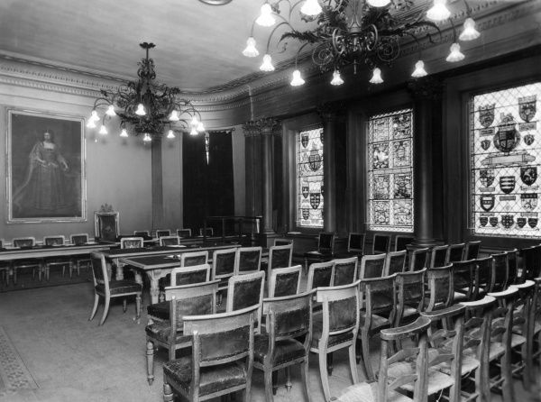 The Council Chamber of the Old Town Hall, Kingston-upon- Thames, Surrey, England. Date: early 1940s