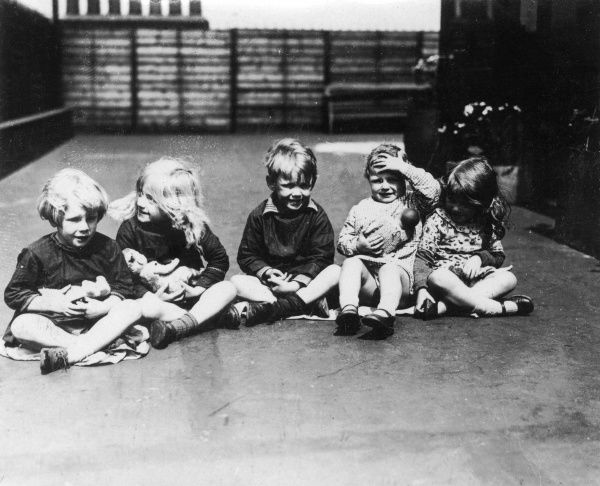 A group of toddlers at Kingsway creche, London. Date: early 1930s