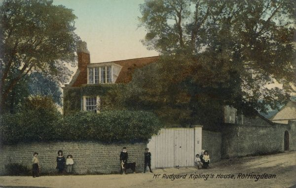 The home of English writer, Rudyard Kipling (1865-1936) in Rottingdean, Sussex