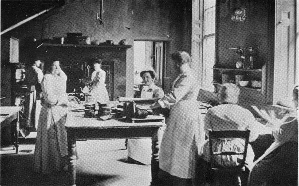 Inmates working in the kitchen at the North Midlands Inebriates Reformatory at Ackworth near Pontefract, West Yorkshire