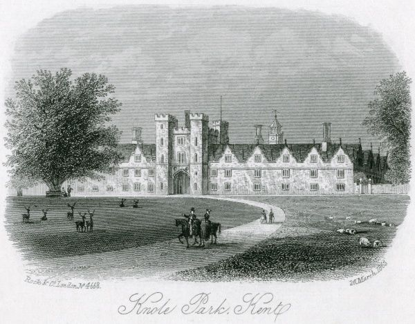 Knole Park, Kent, home of the Sackville family Date: 1863