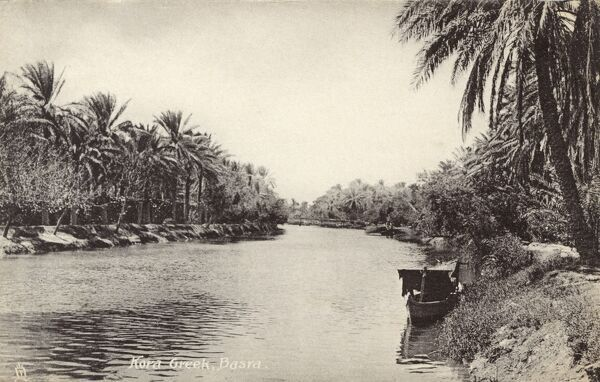 Kora Creek - Basra, Iraq, WWI era Date: circa 1910s