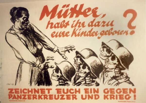 German Communist party (KPD) poster opposing German re-armament
