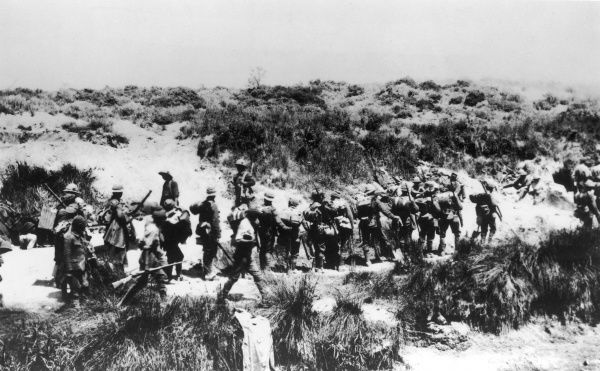 6th Manchester Regiment in the Krithia Nulla sector at Gallipoli during World War I