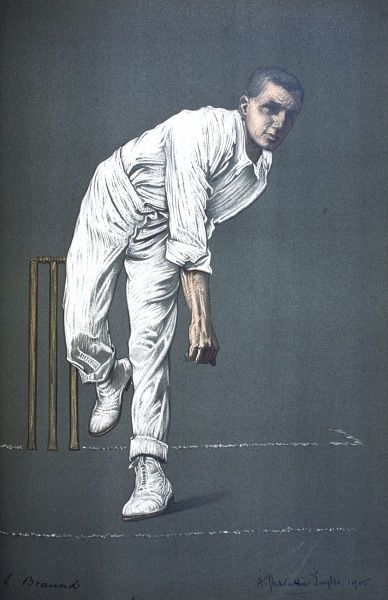 Len C Braund - Somerset and England Test cricketer and Test official (umpire) 1926-29