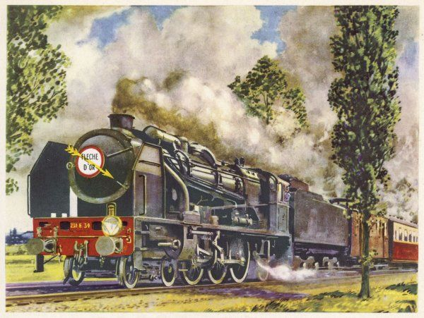 The 'Fleche d'Or' - the Golden Arrow - is a pullman express carrying travellers rapidly between Calais and Paris
