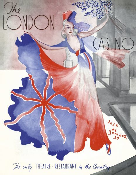 Programme cover for La Revue du Bal Tabarin at the London Casino, London, 1939, produced by Clifford Fischer Date: 1939
