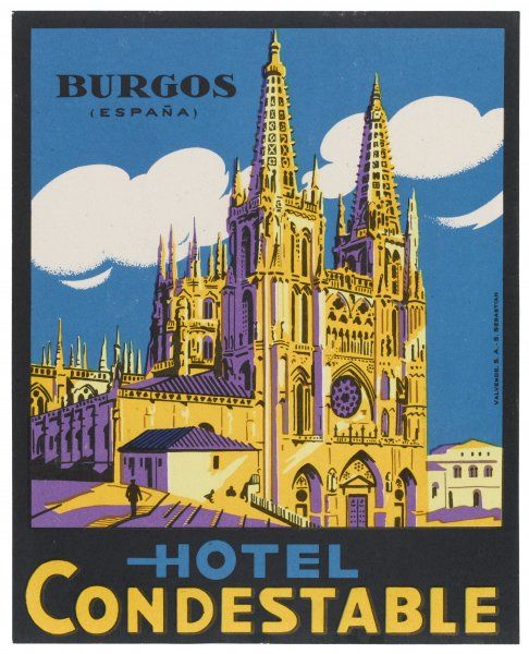 This label for the HOTEL CONDESTABLE at BURGOS is exactly the same as that of the HOTEL NORTE Y LONDRES. Has it changed its name, or are both under one ownership ?