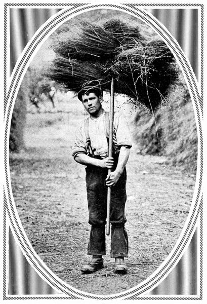 Photograph from a montage featured in the Sphere in 1913 showing various characterful portraits of agricultural workers