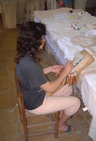 Lace making at Fontana on Gozo, Maltese archipelago