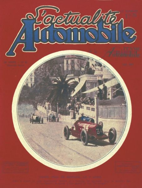 Cover of French motoring magazine L'actualite Automobile featuring the Monaco Grand Prix of 6th April 1930