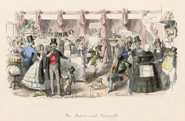 THE MATRIMONIAL TATTERSALL'S Marriageable ladies and gentlemen are put up for auction as if they were horses