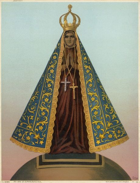 NUESTRA SENORA D'APARECIDA - Our Lady of the Apparition - a Black Virgin from Brazil