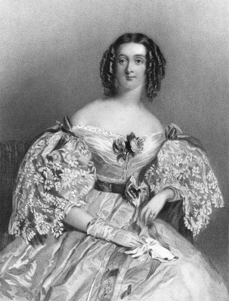 LADY AUGUSTA BARING, nee Brudenell, wife of Henry Bingham Baring. Date: ? - 1853