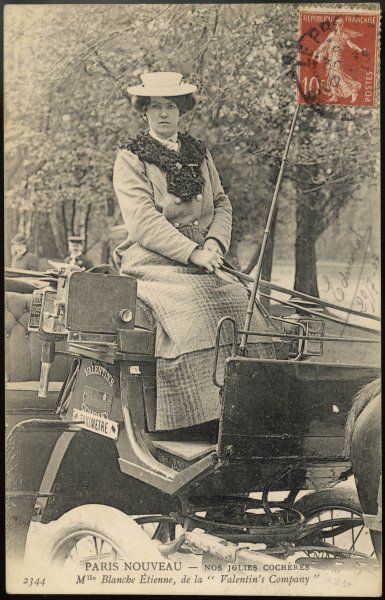 Mademoiselle Blanche Etienne, Paris cab-driver, of 'Valentin's Company&#39