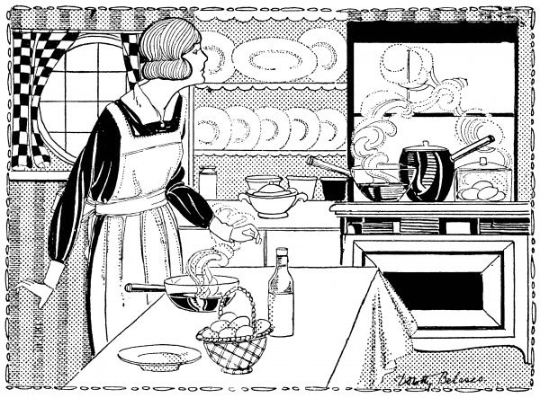 Lady preparing a meal