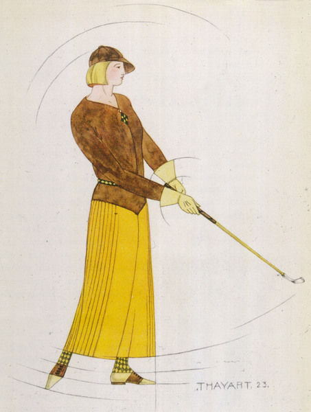 What every lady golfer should have worn in 1924: an outfit designed by Madeleine Vionnet