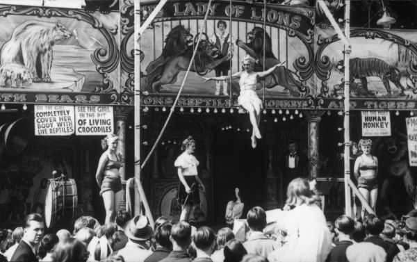 T.Allen's 'Lady of The Lions' sideshow at a fair