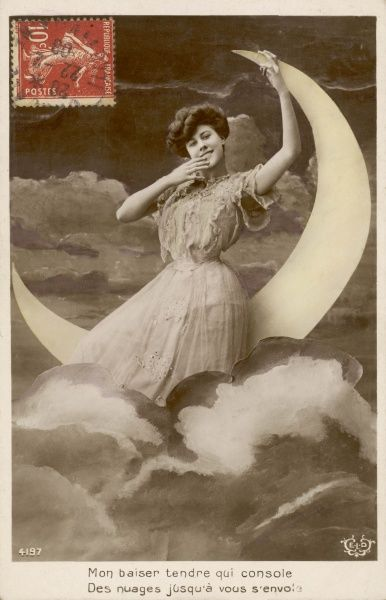 A LADY IN THE MOON